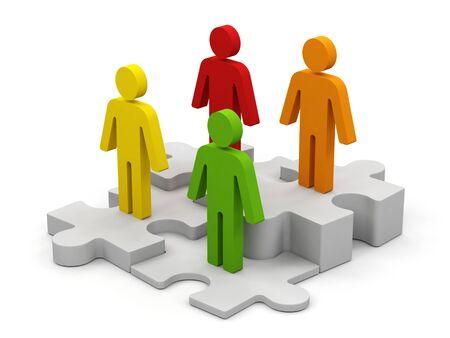 distinguish: Conceptual image of teamwork.