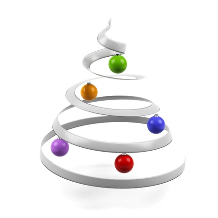 plastic christmas tree: Christmas tree. Isolated on white background. 3d image.