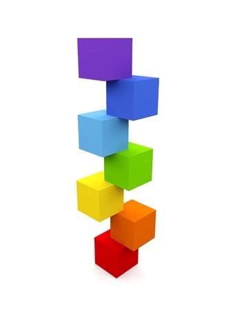 cube puzzle: Balance concept. Stock Photo