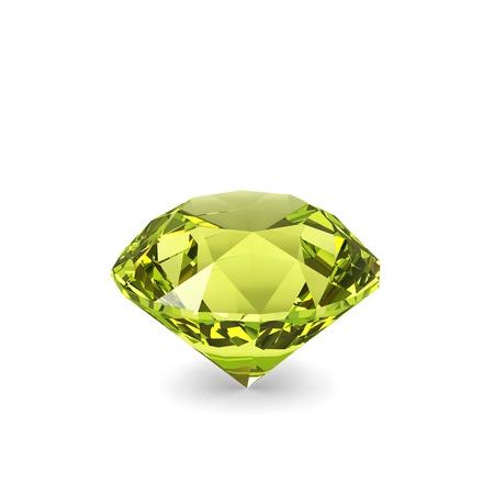 talismán: Diamante de cristal aislado en fondo blanco. Foto de archivo