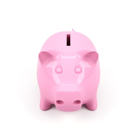 bank deposit: Piggy bank on a white background.