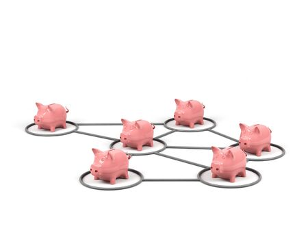 distinguish: Conceptual image of teamwork. 3d image. Stock Photo