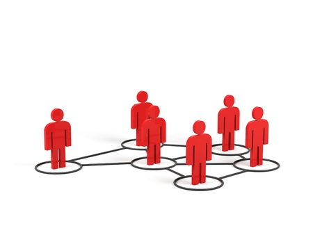 Conceptual image of teamwork. 3d image. 스톡 콘텐츠