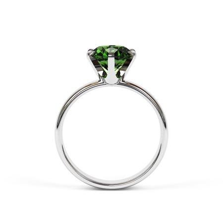 Joyería anillo aislado en un fondo blanco. Foto de archivo