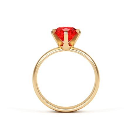 piedras preciosas: Joyer�a anillo aislado en un fondo blanco.