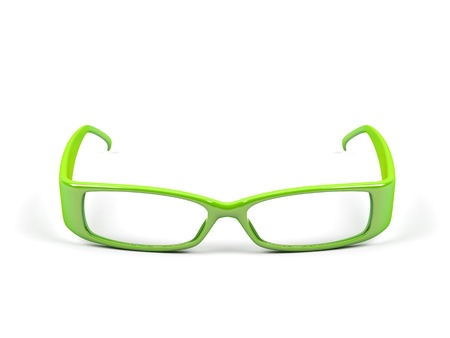 Optical glasses isolated on a white background. Stock Photo