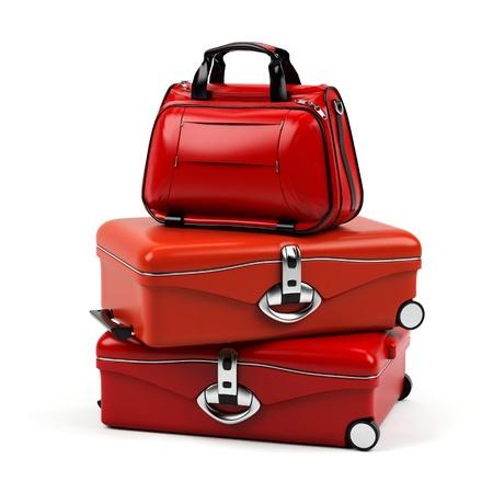 maletas de viaje: Maleta aislado en un fondo blanco.