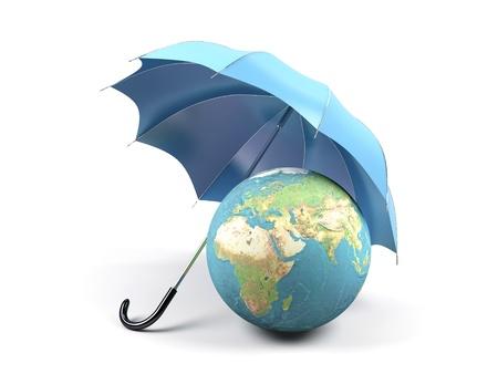 Des Umweltschutzes 3D-Bild Standard-Bild