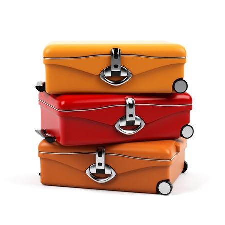 maletas de viaje: Maleta aislado en un fondo blanco