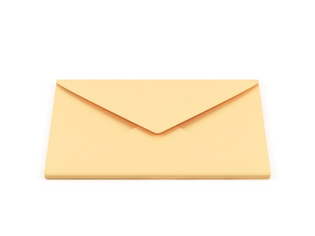 Envelope on a white background  photo
