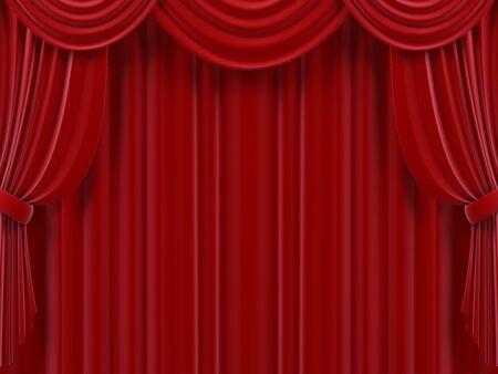 draped: Curtain. Stock Photo