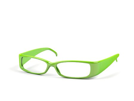 educations: Optical glasses isolated on a white background. Stock Photo