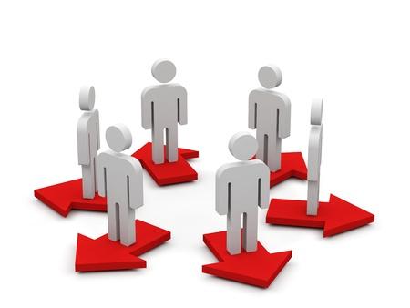 Conceptual image of teamwork. 3d image. Stockfoto