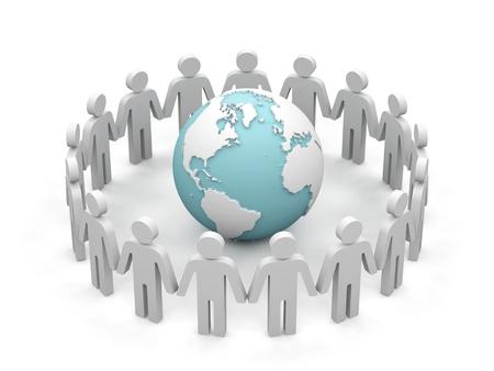 World partnership. 3d image isolated on white background. Stock Photo - 15536503