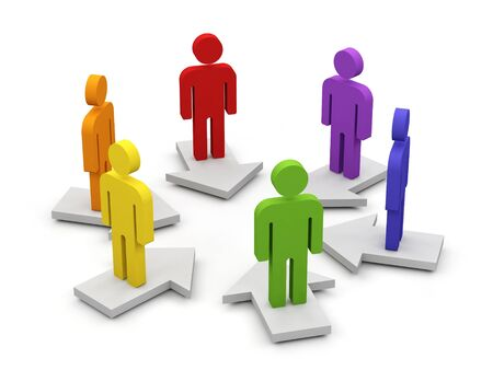 Conceptual image of teamwork  3d image Stock Photo - 15563625