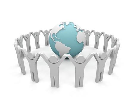 community service: World partnership  3d image isolated on white background