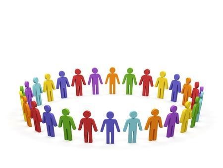 community group: Imagen conceptual del trabajo en equipo Imagen en 3D Foto de archivo