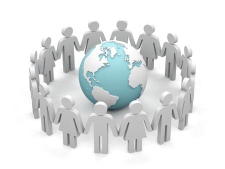 World partnership  3d image isolated on white background Stock Photo - 15563631