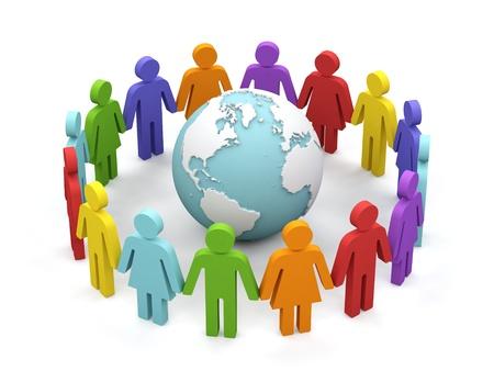 together concept: Mundial de asociaci�n imagen 3d aislado en el fondo blanco