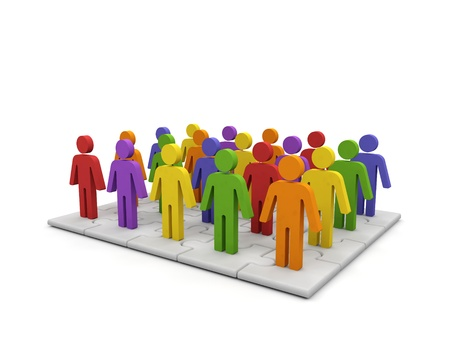 Conceptual image of teamwork. Stock Photo - 15563620