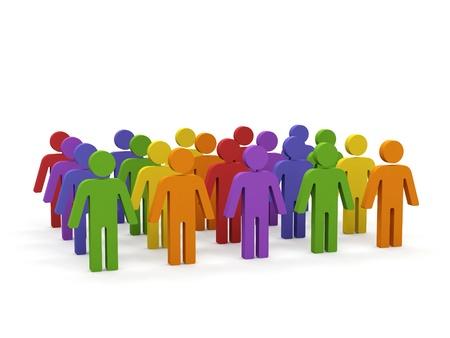 Group of people. Stockfoto