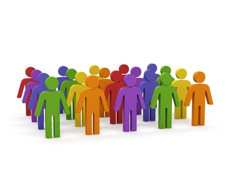 Group of people. Stock Photo - 15567387