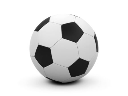 shootout: Soccer ball on a white background.