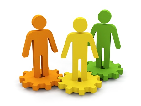 teamwork together: Conceptual image of teamwork. 3d image. Stock Photo