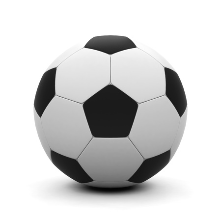 shootout: Soccer ball on a white background