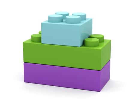 Plastic toy blocks on white background Stock Photo - 15585416