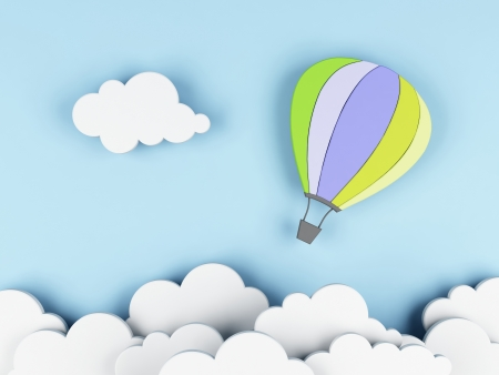 inflate: Hot air balloon Stock Photo