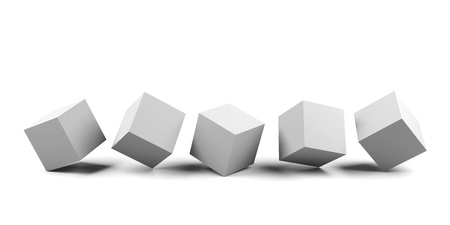 3d white cubes isolated. photo