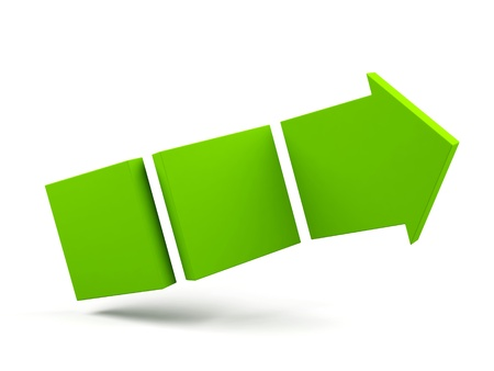 3d arrow isolated on white photo