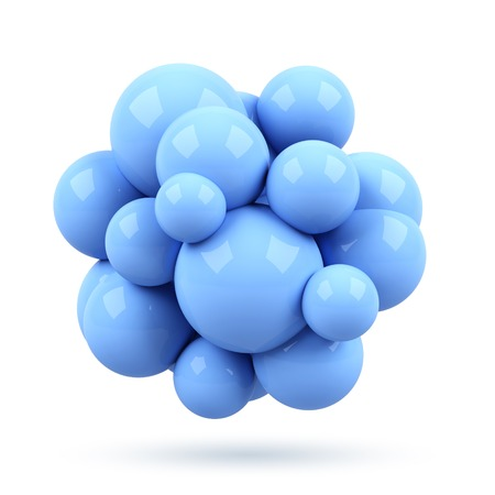 3d molecule isolated on white background photo
