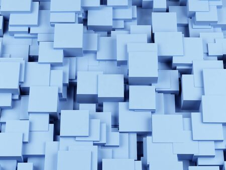 frontal: abstract image of cubes background. 3 image Stock Photo