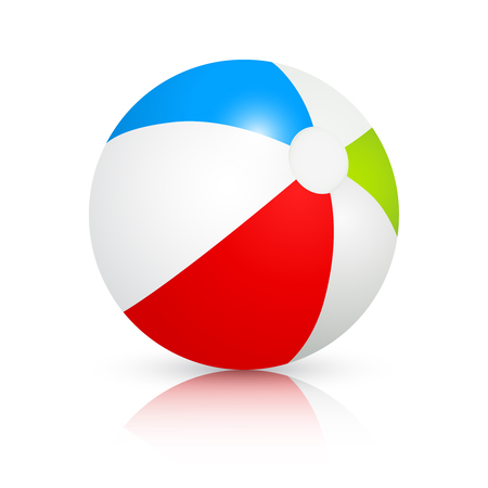 Colorful beach ball. Vector image isolated on white background