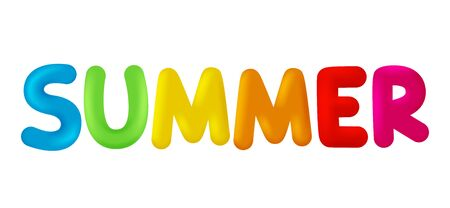 The word Summer Vector image isolated Illustration