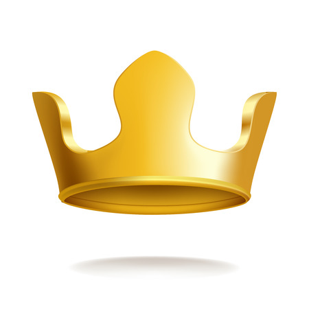 Gold Crown, Isolated On White Background