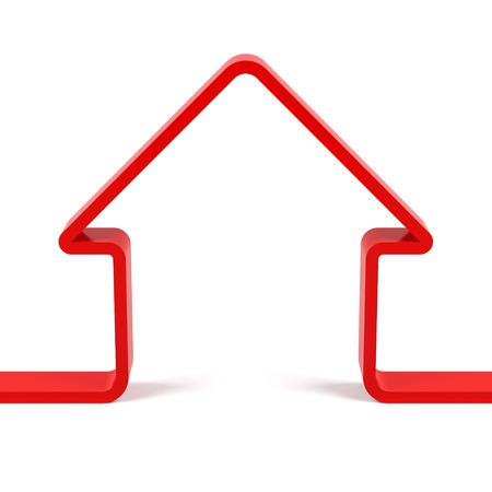 Red house avatar. image rendu 3d Banque d'images - 82331750