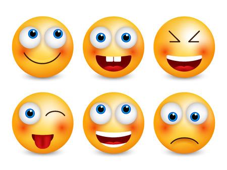 Smileys vector set. Ilustracja