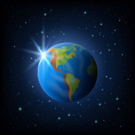 Planet Earth. 3d realistic vector image