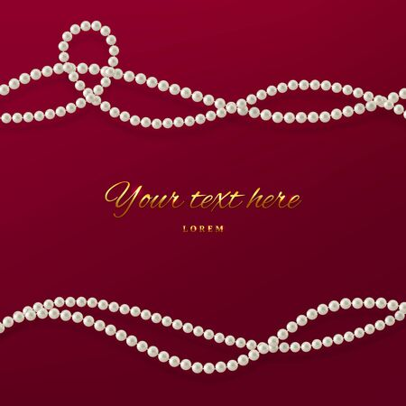 Threads of pearls in red