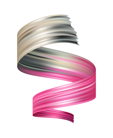 Farbpinselstrichgestaltungselement lokalisiert auf Weiß. Realistische Vektorgrafik.