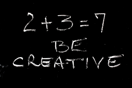 creative mathematical concept of success and increase photo