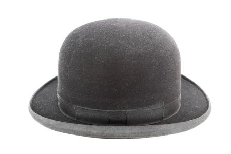 old black elegant hat over white background