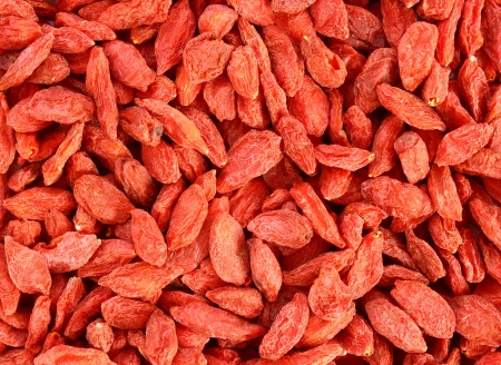 texture of a bunch of red goji berries