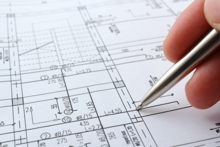 architecture plans: structure project for building a house