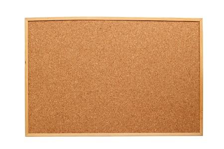 白い背景で隔離のフレームと木製のコルク板 写真素材