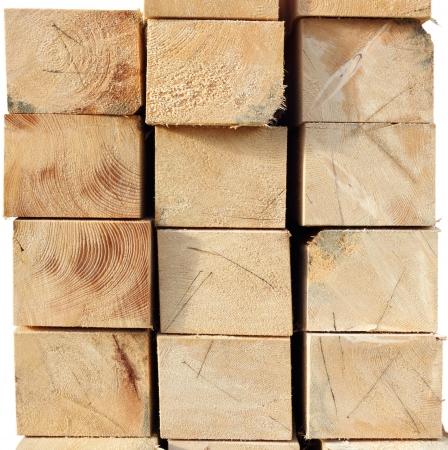 arrangement of wooden beams - felled spruce wood texture Stock Photo - 16752899