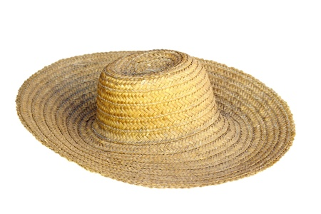 17604785 - old traditional rural hat isolated over white background ea5e6a870513